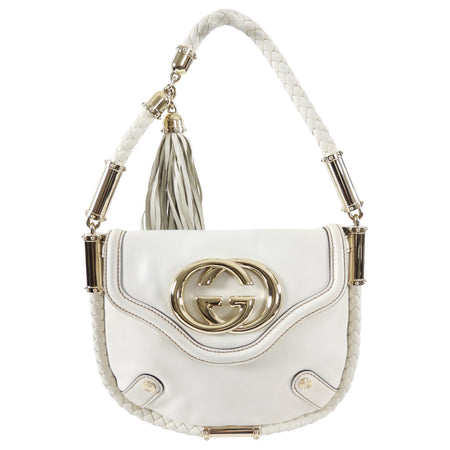 Gucci Small Ivory Britt Tassel Bag