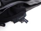 Gucci Black Leather Waist Tie Rayon Wrap Skirt - M