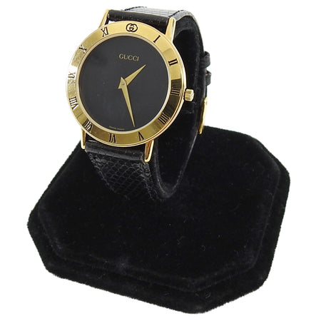 Gucci Vintage Black and Gold 3000.2.M Watch