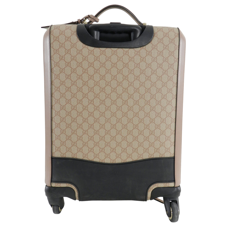 53f2984a16e1 Gucci GG Supreme Monogram 4 Wheel Carry-on Luggage - Winter Rose – I ...