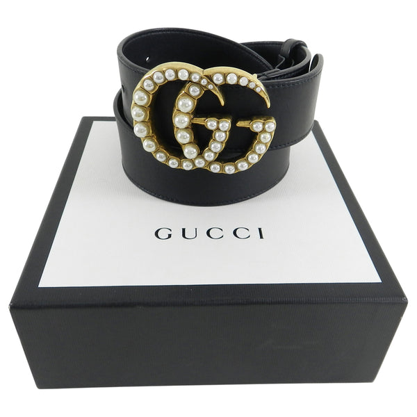 Gucci Marmont Pearl GG Buckle Belt - large