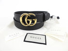 Gucci Marmont 30mm Wide Black Leather Belt