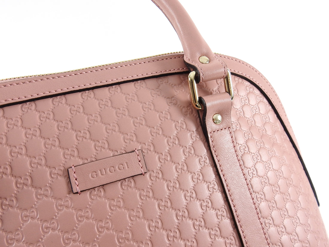 Gucci Micro Guccissima Soft Pink Domed Shoulder Bag