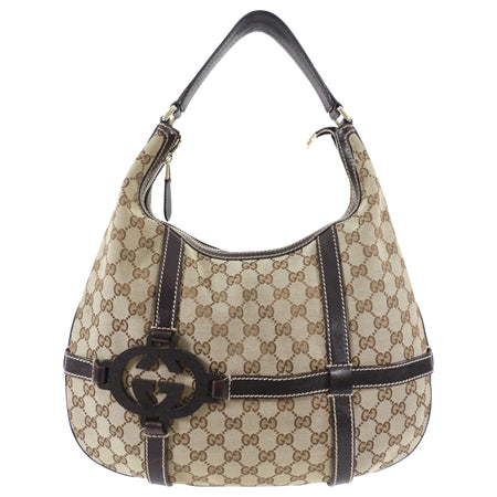 Gucci Brown Monogram Royal Hobo Bag