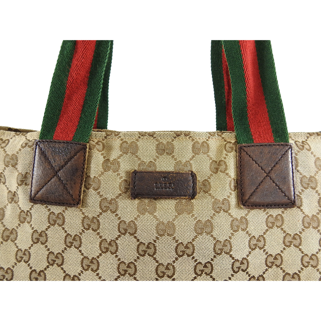 Gucci Monogram Canvas Brown Shopping Tote Bag