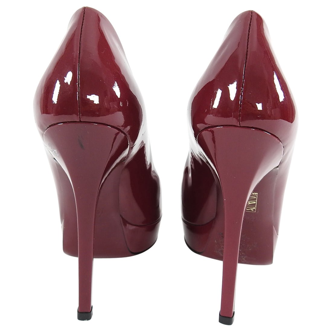 Gucci Raspberry Patent Leather 130mm Classic Pumps - 38