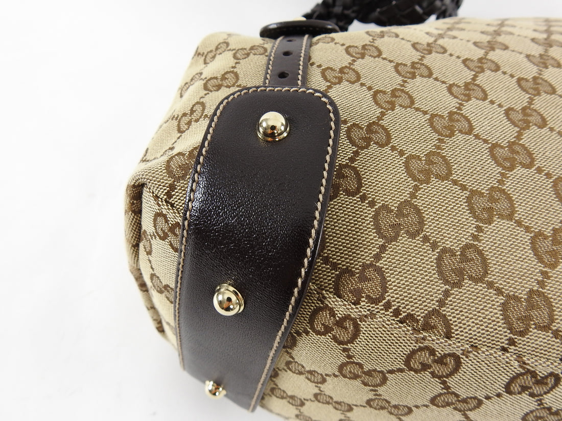 Gucci Brown Monogram Canvas Pellham Bag