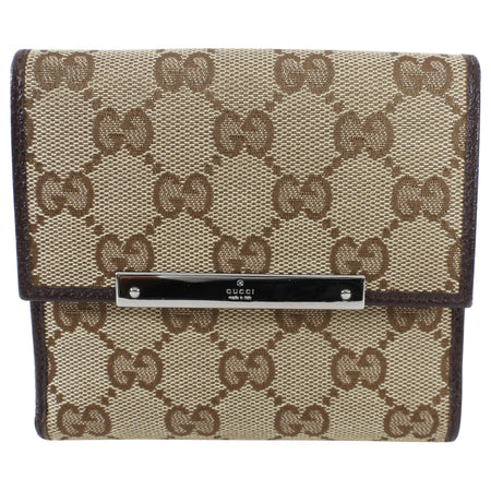Gucci Princey Brown Monogram French Compact Wallet