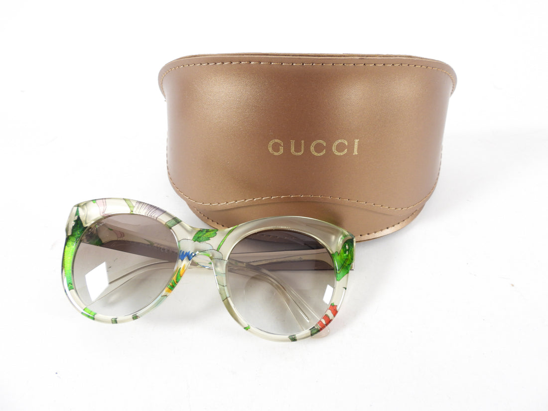Gucci Clear Floral Sunglasses GG 3740