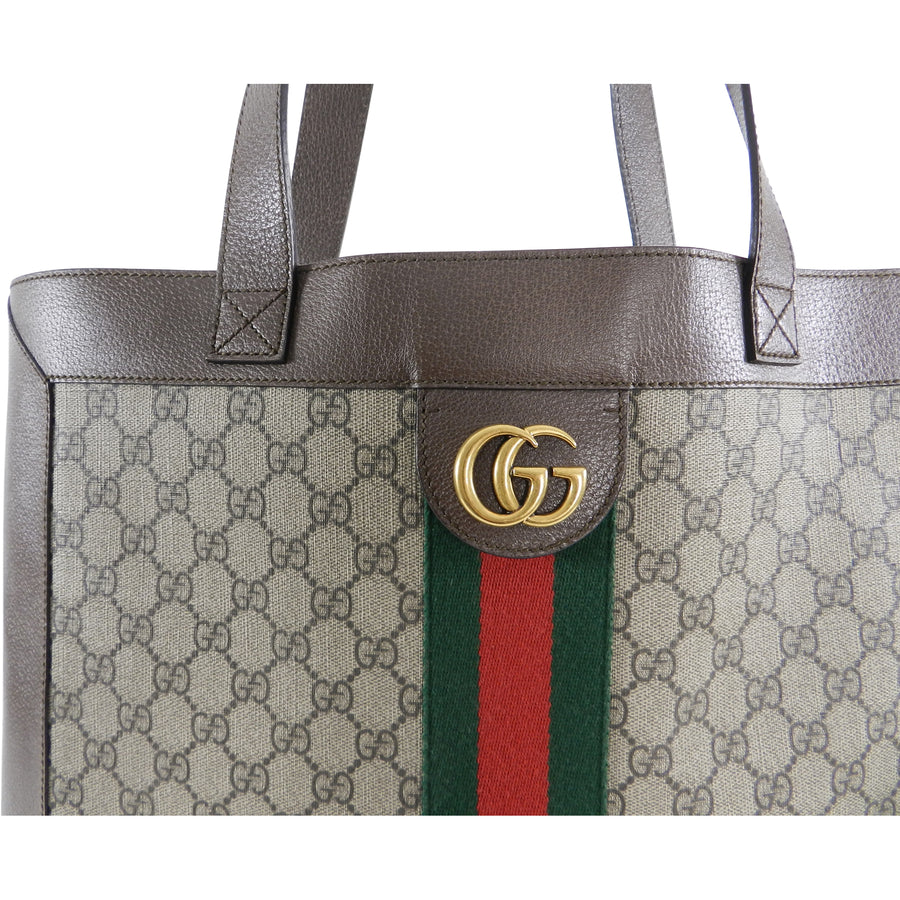 84d133fa72b3 Gucci Ophidia Brown Monogram Soft GG Supreme Large Tote Bag – I MISS ...