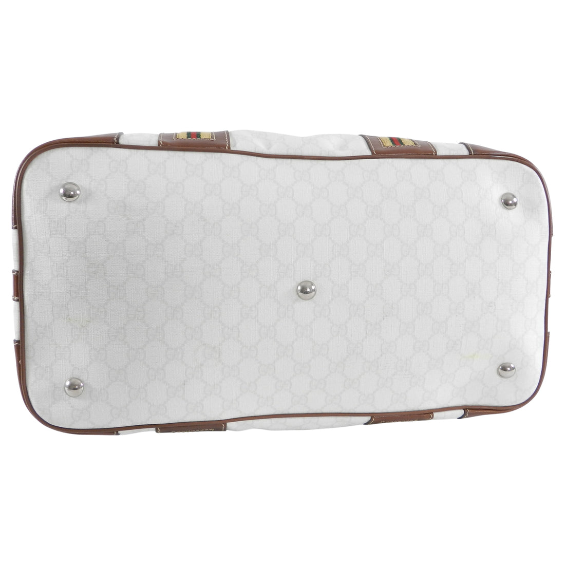 Gucci White Monogram Doctor Travel Overnight Luggage Bag