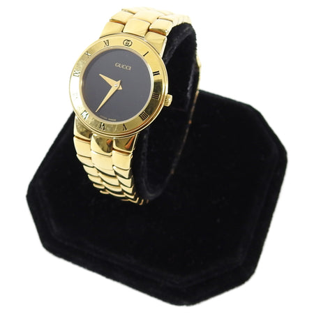 Gucci Vintage Ladies Gold Plated 3300.2.L Wrist Watch
