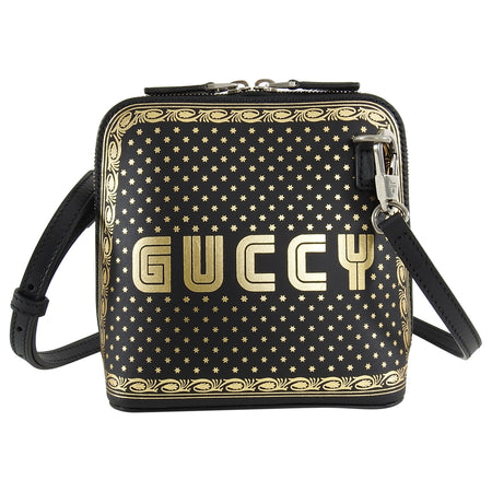 Gucci Spring 2018 Runway Guccy Mini Moon and Stars Crossbody Bag