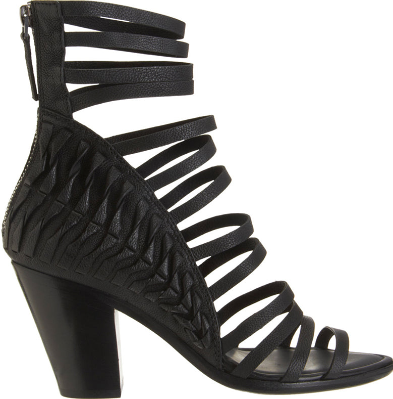 Haider Ackermann Black Leather Strappy Sandal Heels - 6.5