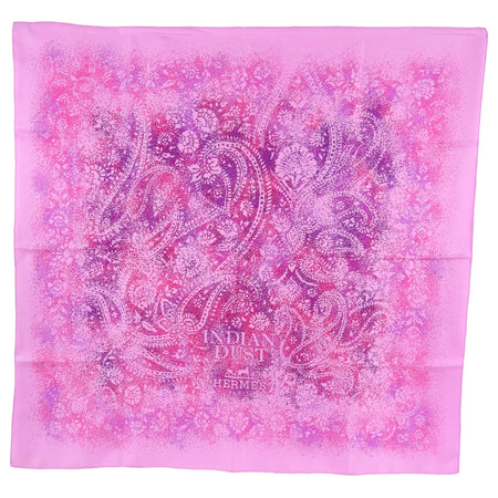 Hermes Pink Paisley Indian Dust 90cm Silk Scarf