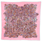 Hermes Legende Moghole Light Pink Monkeys 90cm Silk Scarf