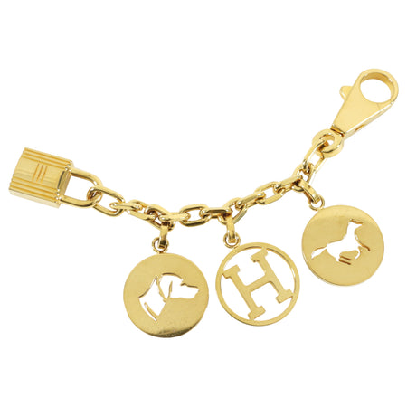 Hermes Breloque Gold Plated Bag Charm