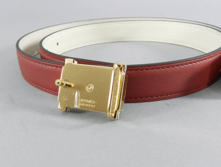 Hermes Limited Edition 2016 Runway 24mm Lacquer and Jasper Belt Kit