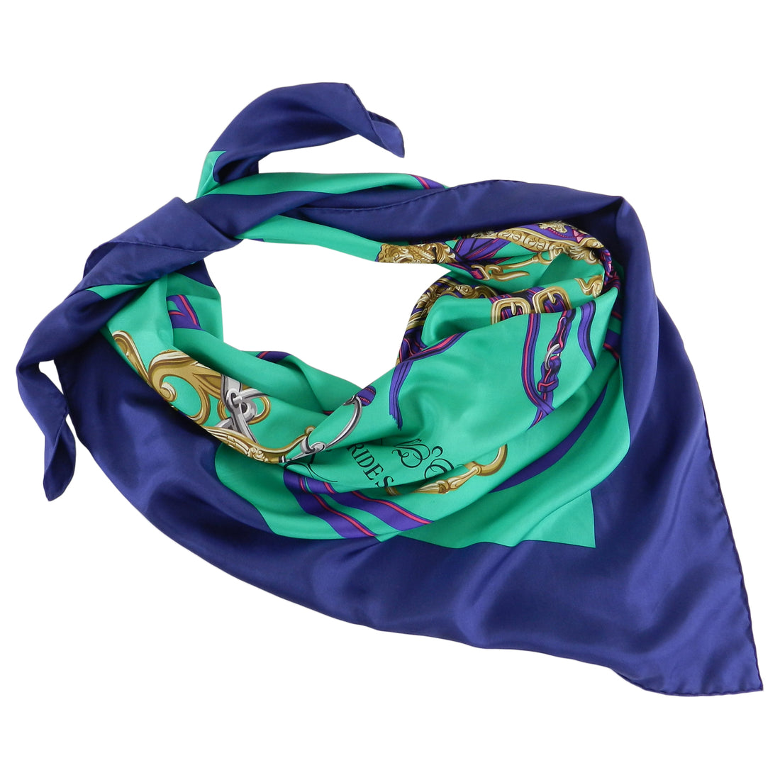 Hermes 140cm Summer Twill Silk Brides de Gala Shawl - Purple, green, fuchsia