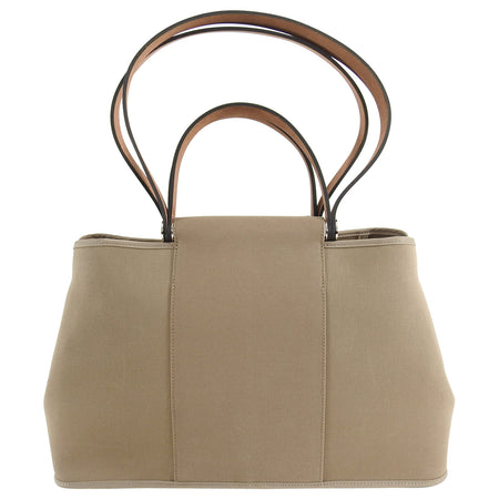 Hermes Cabag PM Canvas 2 Way Bag - Etoupe / Ebene