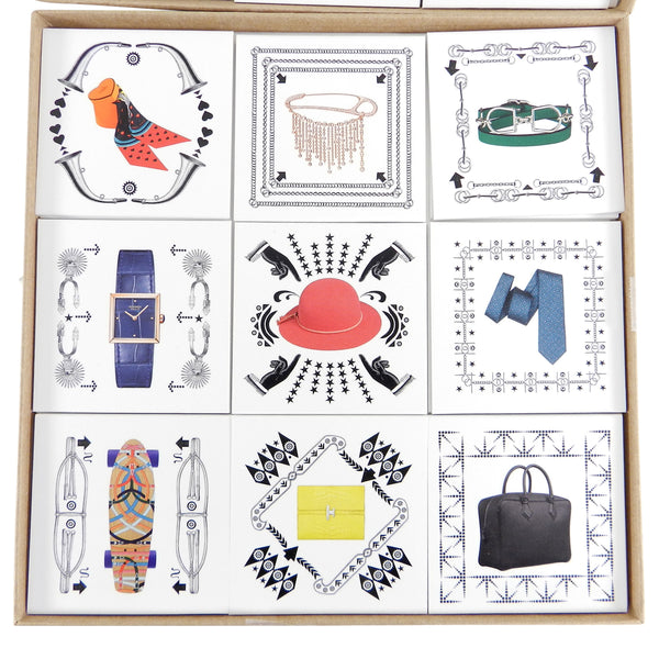 Hermes Holiday Cards Memory Game Gift Set