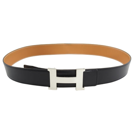 "Hermes Constance H Belt 42"" Reversible Black and Brown - 95"