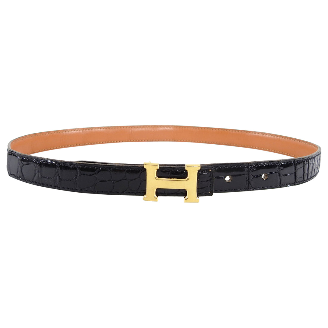 Hermes Vintage 1986 Exotic Alligator Thin Constance H Belt - 65