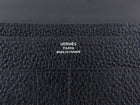 Hermes Dogon Duo Wallet Black Togo Calfskin
