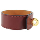 Hermes Burgundy Hip Hop Swift Leather Bracelet