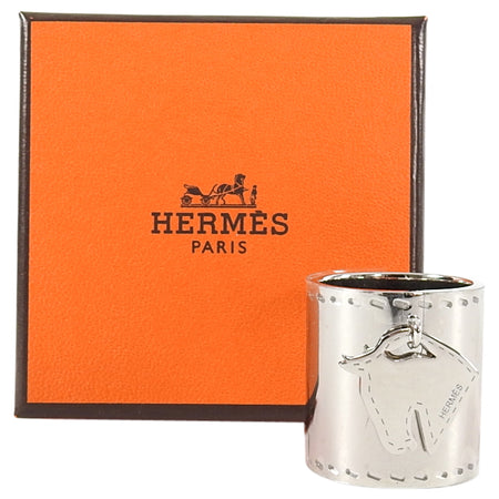 Hermes Tete de Cheval charm scarf ring