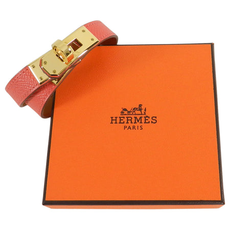 Hermes Kelly Double Tour Bracelet - Rose Jaipur