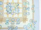 Hermes Les Rubans de Cheval Light Blue 90cm Silk Scarf