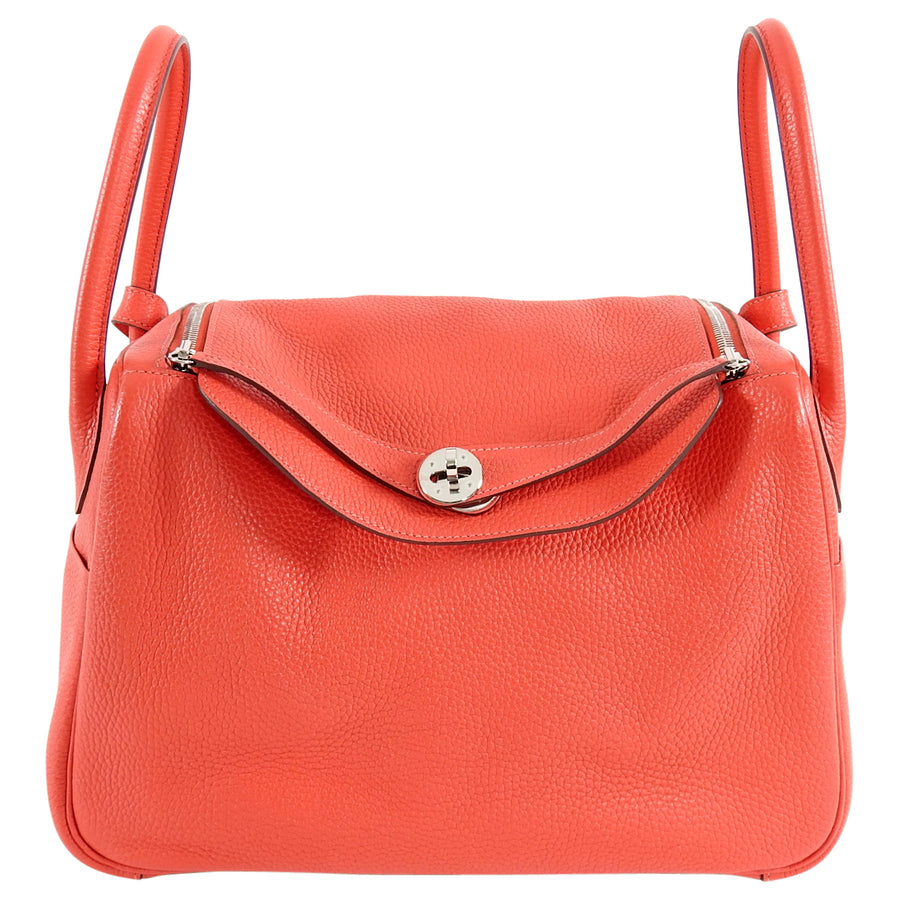 af64be2342e0 Hermes Lindy 34 Shoulder Bag in Taurillon Clemence Rouge Pivoine – I ...
