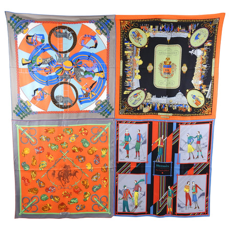 Hermes Silk Patch Giant Limited Edition 180cm Silk Twill Shawl Scarf