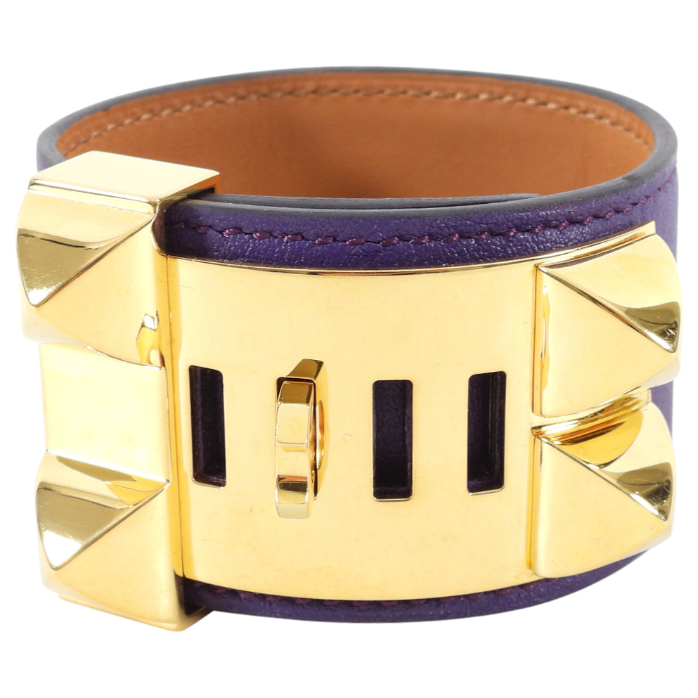 Hermes Collier de Chien Cuff Bracelet in Swift Ultraviolet