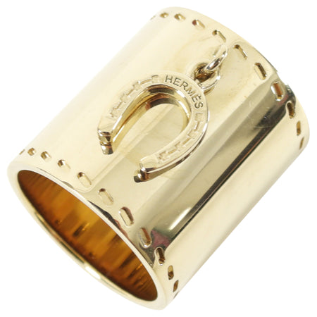 Hermes Goldtone Horseshoe Scarf Ring
