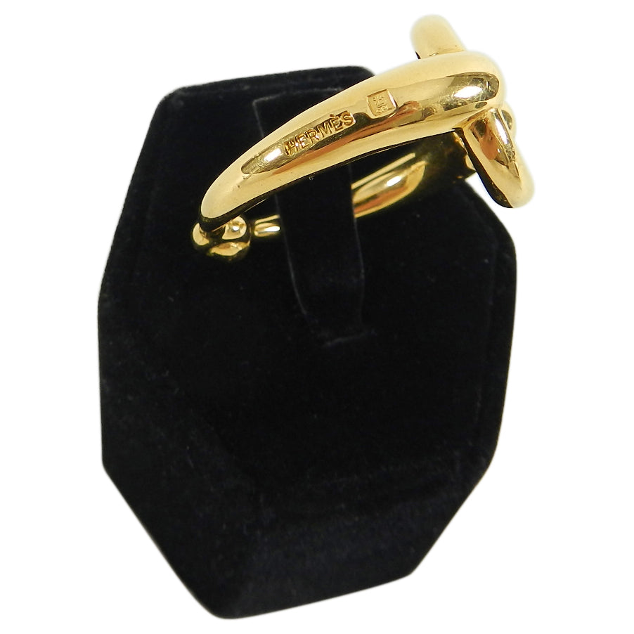 Hermes Gold Horse Bit Scarf Ring