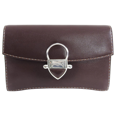 Hermes 2008 Havanne Brown Touareg Clutch Bag in Gulliver Leather