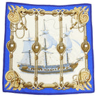 Hermes Tribord Blue Sailboat 90cm Silk Scarf