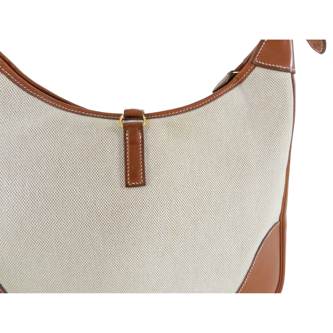 Hermes Trim II Toile and Leather 31cm Bag