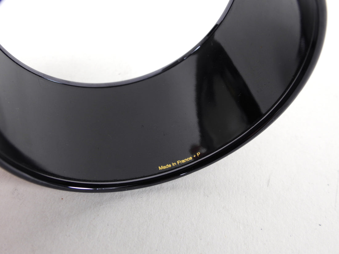 Hermes Extra Wide Printed Black Chaine D'Ancre Bangle Bracelet
