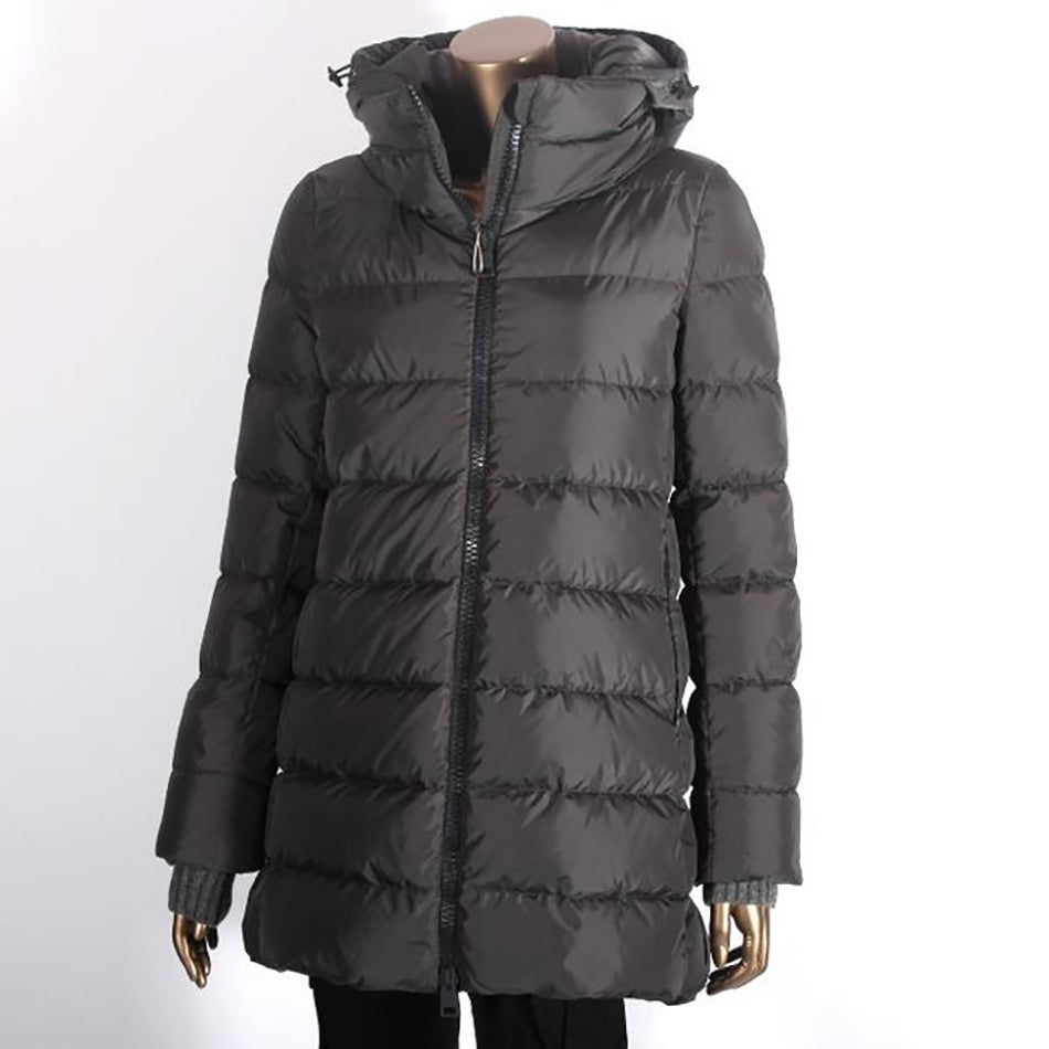 Herno Grey Down Puffer Coat with Hood - IT42 / USA S
