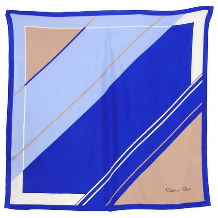 Christian Dior vintage Blue Graphic Print Scarf