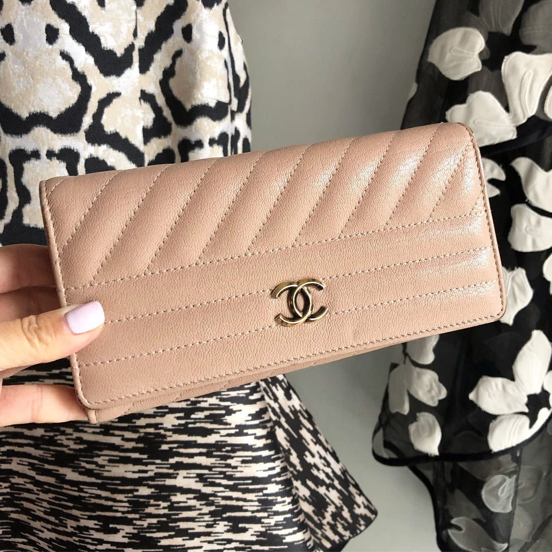 Chanel Nude Long Continental CC Wallet