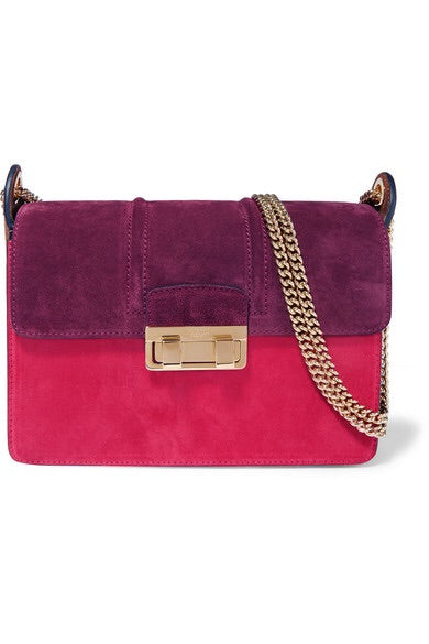 Lanvin suede colour block Ji Ji bag