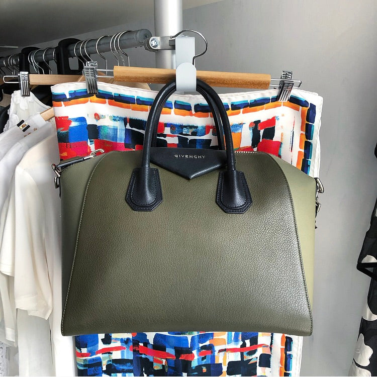 Givenchy Tricolor Olive Green Antigona Medium Bag