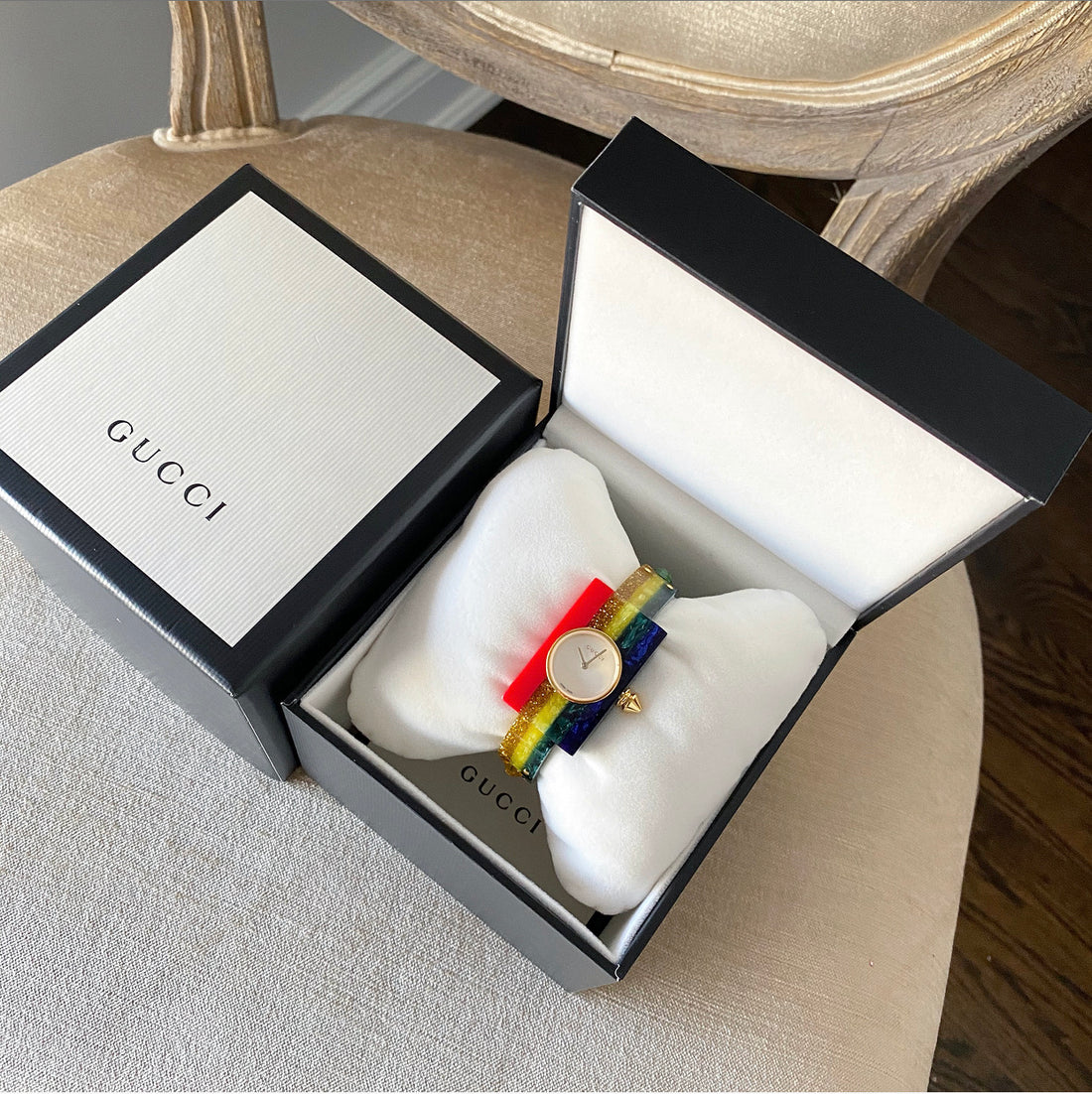 Gucci 2020 Vintage Web Watch 143.5 Rainbow Stripe Bracelet Watch