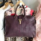 YSL Yves Saint Laurent Plum Cabas Chyc Large Satchell Bag