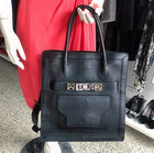 Proenza Schouler PS11 Large Black Leather Tote Bag