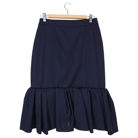 Jacquemus Navy La Jupe Foncee with Ruffle Hem – USA 8